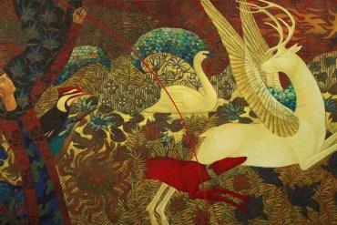 Midsummer Hunt, 100x175,cm,oil on canvas, 2020january,london