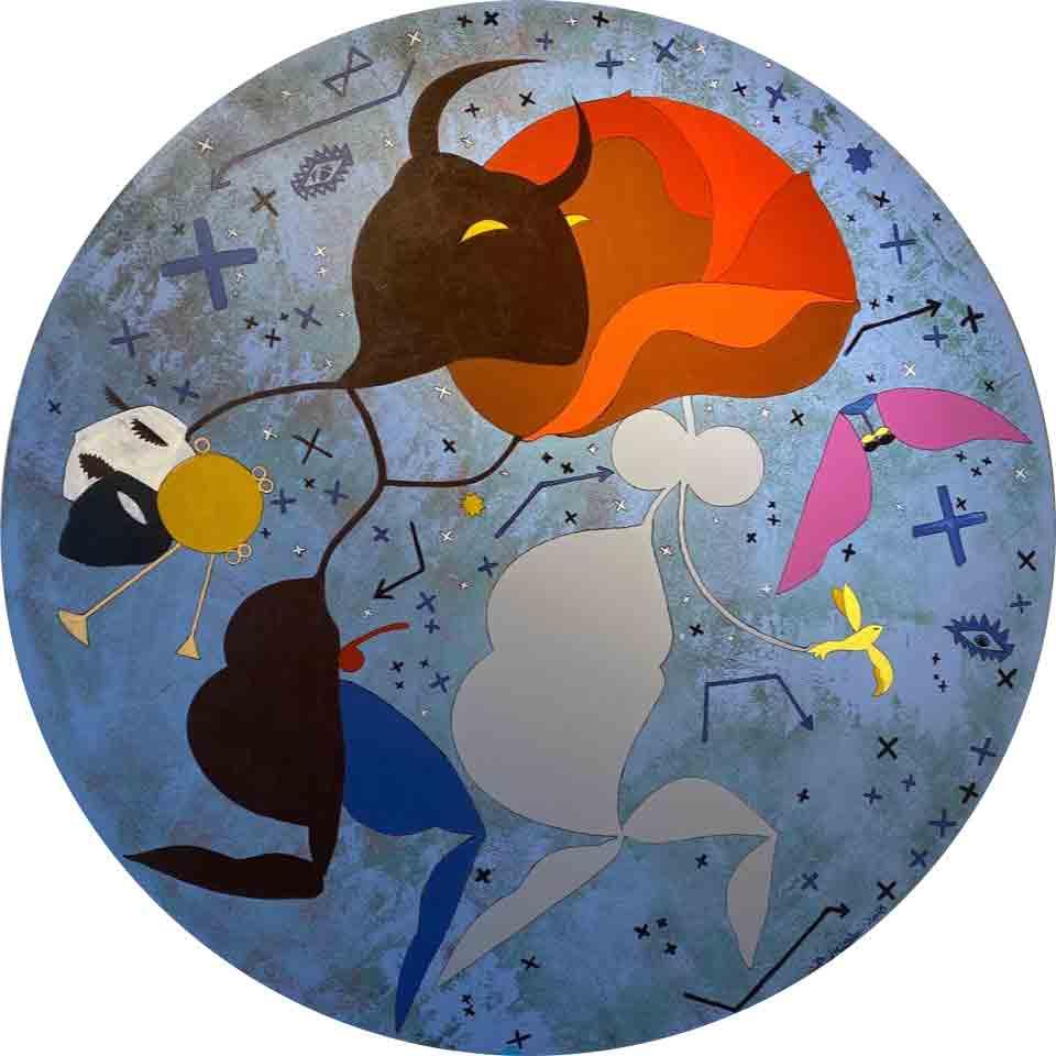 Festivity II, 150cm, Acrylic on canvas , 2018 By Bakhodir Jalal