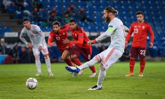 Spain vs. Switzerland: Sergio Ramos misses two penalties in 1-1 draw