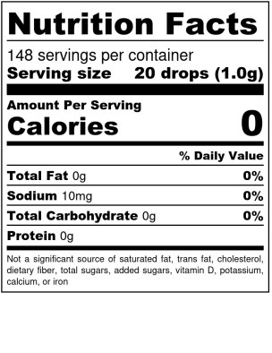 Sweet Success Nutritional Label