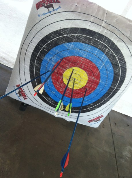 Bulleye on the archery range at Panola Mountain State Park.