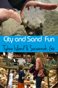 Savannah and Tybee Island, Ga. City and Sand Fun