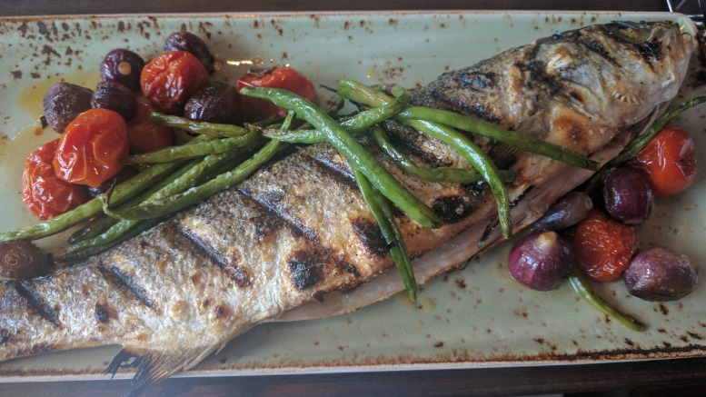 The whole fish at Saltwood, the restaurant at Loews Atlanta