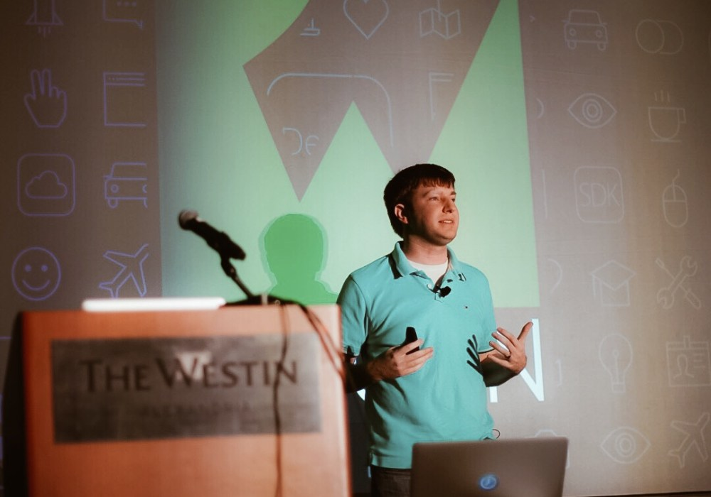Jeremy Olson (@jerols) speaking on the business side of iOS at RWDevCon