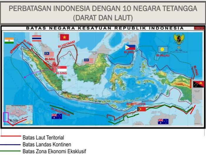 Indonesia memiliki perbatasan darat internasional dengan tiga negara tetangga. Batas Wilayah Australia