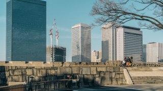 【高層ビル街】大阪ビジネスパークにて