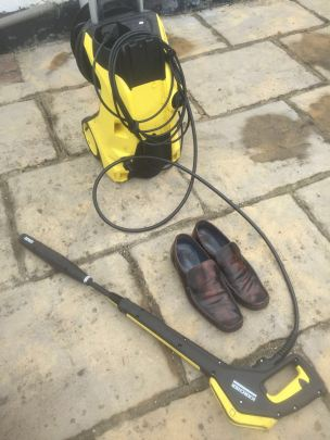 Spavo's shoes needed a wash
