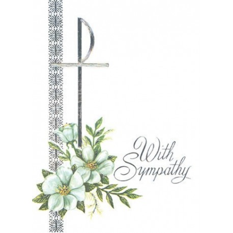 With Sympathy Mass Card Catholic Mass Cards Mass Cards For