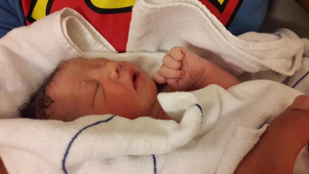 Baby Füchsin gerade geboren