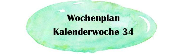 Essensplan – KW 34