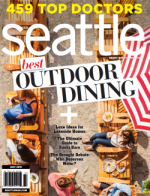 front cover of Seattle Magazine's July 2015 issue featuring '459 Top Doctors'