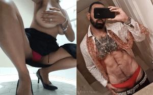 wife's used panties side by side