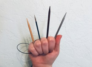 Knitting needle types