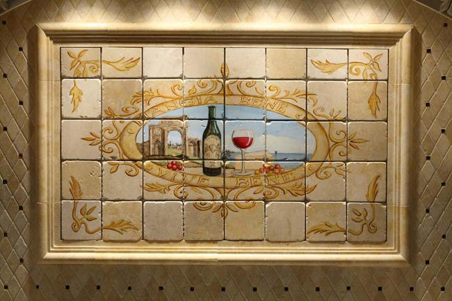 handpainted tile mural fuda tile