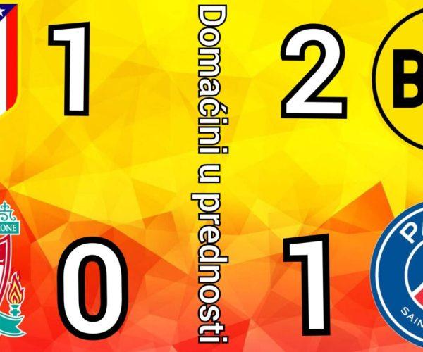 Atletiko Liverpul 1-0 ☆ Dortmund – PSG 2-1