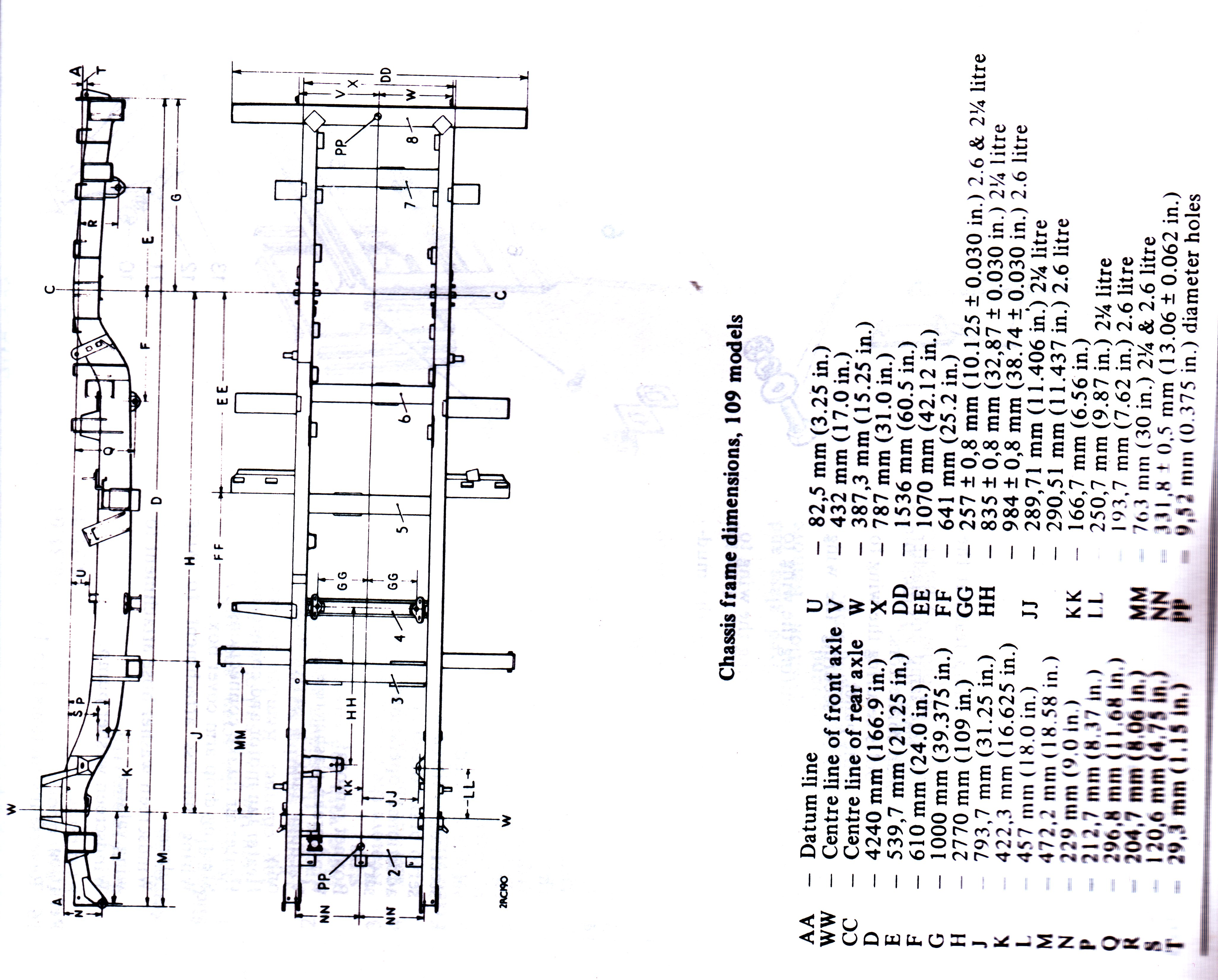 Chassis drawings Series Forum LR4x4 The Land Rover Forum