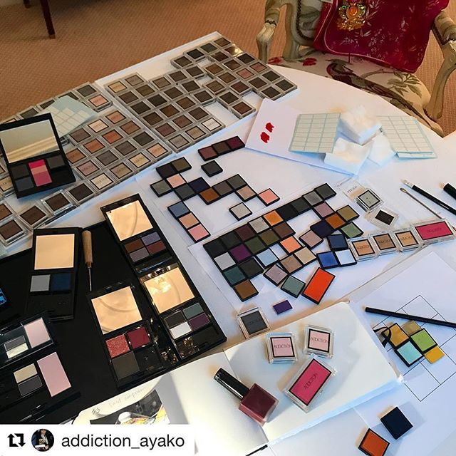 #addiction eyeshadows#Repost @addiction_ayako (@get_repost)・・・Working on my colors !