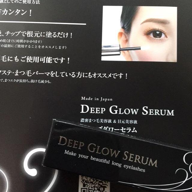 Deep Glow serum @peaceofshine #ピースオブシャイン #ディーブグローセラム #まつげ美容液