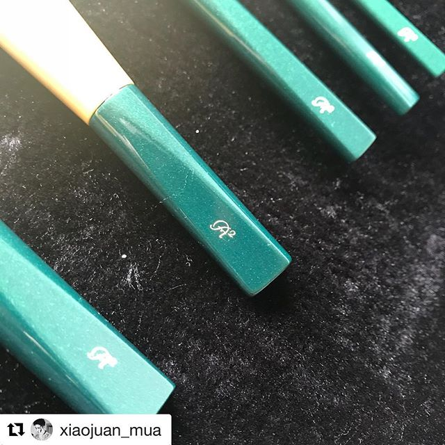 Repost @xiaojuan_mua (@get_repost)・・・Big thanks to @fudejapan on helping me to get this gorgeous brush set, and they are absolutely amazing, btw how did you know matcha chocolate is my favourite one#makeupbrushes #kihitsu