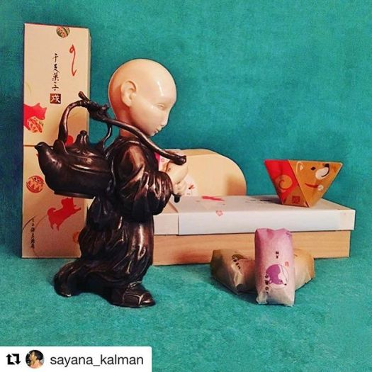 #Repost @sayana_kalman (@get_repost)・・・The best sweets I ever tried)! Very special, not to sweet! From Japan  Thank your soooooo much Toshiya @fudejapan ! And Alexandra @fudejapanrussia