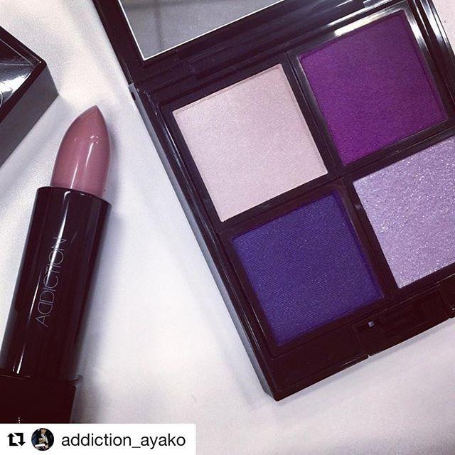 "#addiction Hankyu #limited#Repost @addiction_ayako with @get_repost・・・""Bad Romance"" Campaign  Limited Edition Eyeshadow and Lipstick Sheer "" Speechless"" for Osaka Hankyu department store ..Sand Martin / Bad RomanceSheltering Sky / Horizon..#addiction_ayako #addiction_beauty #eyeshadow #limitedEdition #lipstick #osaka #UnedaHankyu :"