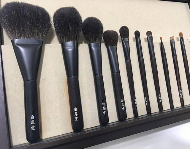 #hakuhodo Kokutan brushes