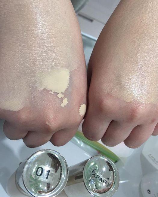 #lunasol liquid foundation 01 vs CL