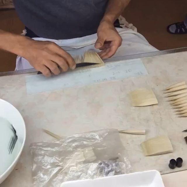Fude (brush ) making at #Koyomo Hiroshima