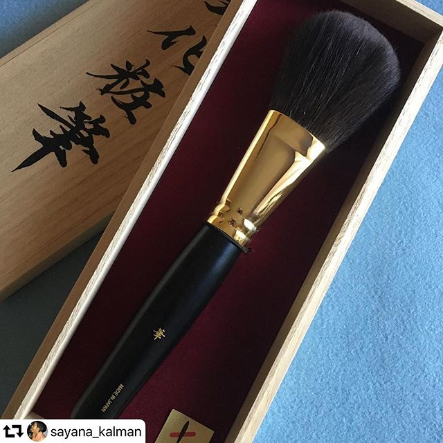 #Kyuka powder brush #repost @sayana_kalman・・・@fudejapan @fudejapanrussia Thank you