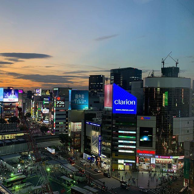 #shibuya now 5:50 pm 26℃Maybe my favorite season in Japan