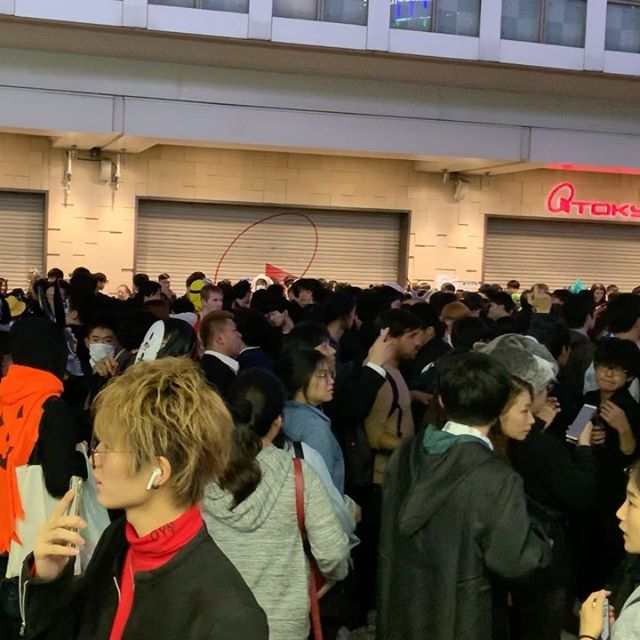 #Halloween night at #hachiko Department store closed a door