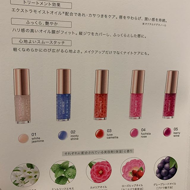 #decorte lip oil 3240 yen