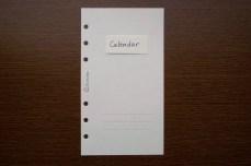 Calendar(綴りに注意)