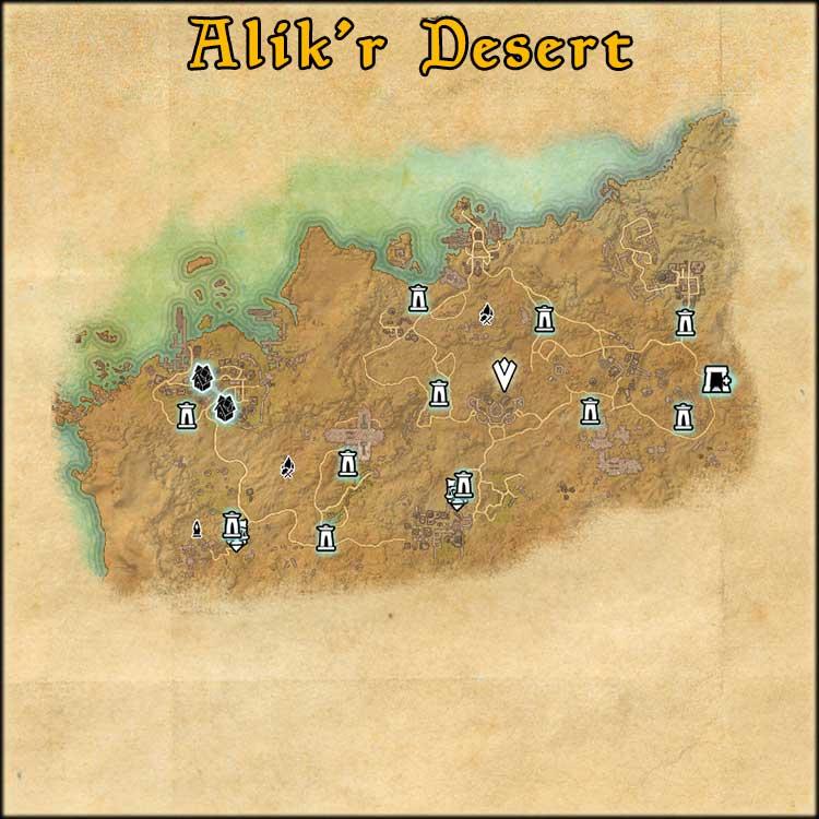 Mapa de Fragmentos Baston de Alik'r Desert