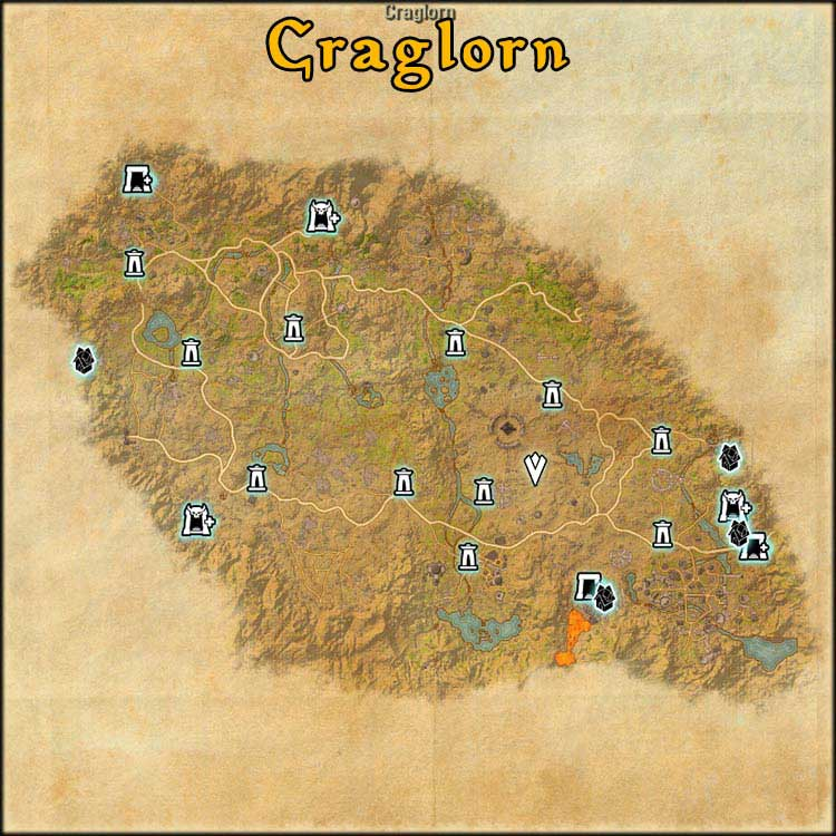 Mapa de Fragmentos Baston de Craglorn