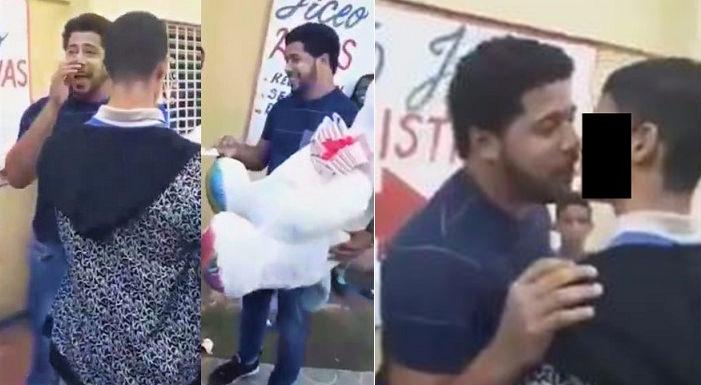 VIDEO: Joven que entregó peluche y besó un estudiante en escuela de Cristo Rey explica cómo entró