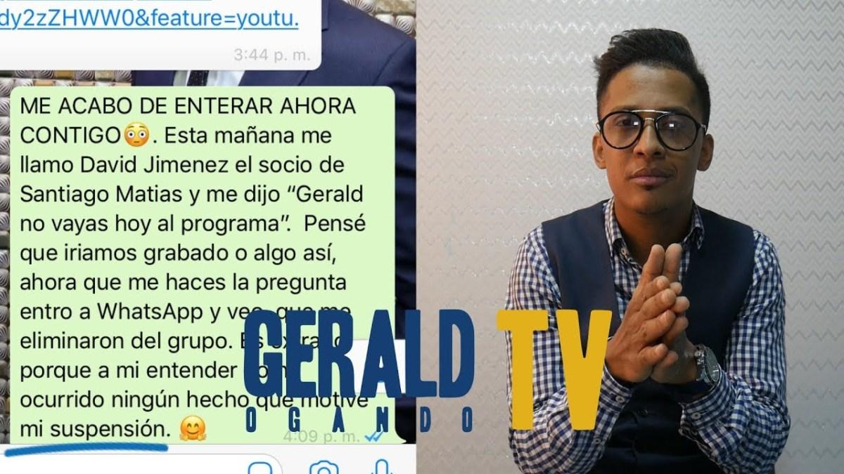 """VIDEO: Gerald Ogando da """"su versión"""" sobre su suspensión de """"Sin filtro radio show"""""""