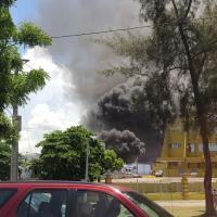 Fuego afecta una nave de la Junta Central Electoral