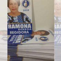 Doña Ramona se quedó con los afiches elaborados y… con deudas