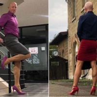 Padre de tres hijos que viste faldas y tacones para trabajar dice que la ropa no tiene género