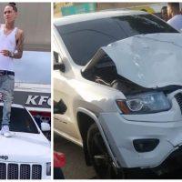 Onguito Wa involucrado en accidente de tránsito; hay dos personas lesionadas