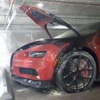 VIDEO: Incendian el Bugatti de El Alfa en Miami
