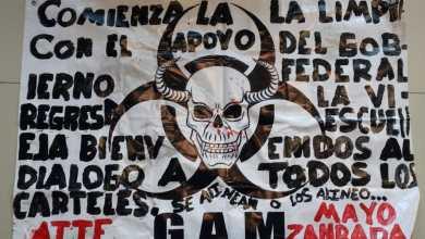 """Dejan en Zamora """"narcomantas"""""""