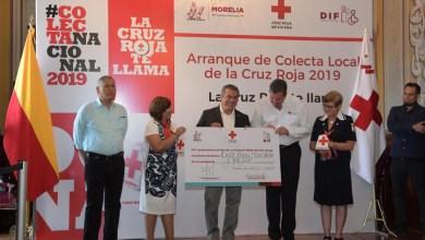Ayuntamiento y Cruz Roja Morelia arrancan colecta