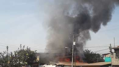 Incendio consume un domicilio en Uruapan