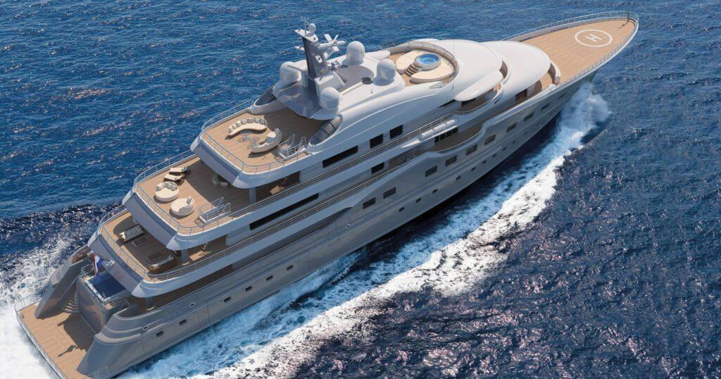 Amels 83m Superyacht Here Comes The Sun Underway Delivery