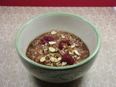 Choco-Raspberry Oatmeal