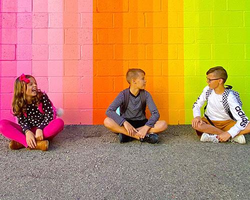 Middle school friends talking