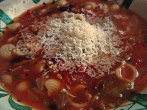 Soup with parm cheese so good
