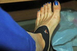 I searched plantar fasciitis on my blog and this is the photo I found.  Random and it will do...